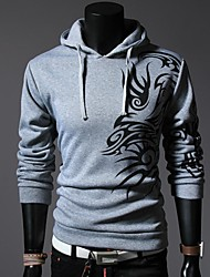 Lesen Men's Hoodie Fashion Chinese Style Dragon Print Casual Hoodie O