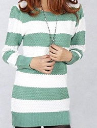 Women's Blue/Gray/Green/Yellow Pullover , Sexy/Casual Long Sleeve