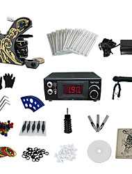 1 Gun Complete No Ink Tattoo Kit with LCD Power Supply