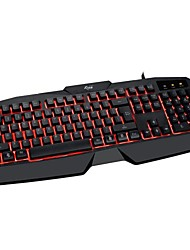 xinsuiwodong 7100 juegos luminosa teclado usb
