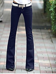 Pantalón De las mujeres Vintage / Bodycon / Para Trabajo - Denim