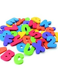 36 Pieces Munchkin Bath Learn Letters & Numbers Stick on Baby Bathroom Toy