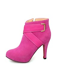 Women's Spring / Fall / Winter Platform / Round Toe / Fashion Boots Dress Stiletto Heel Zipper Black / Pink / Red / Gray