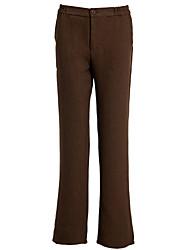 brun glissière pantalon des femmes