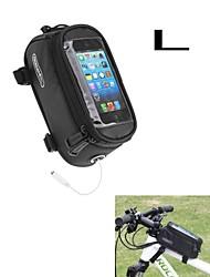 ROSWHEEL bolsa nova tela de toque de atualização sela para telefone celular w / fone de ouvido buraco l tamanho 5.5inch