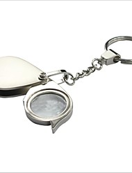 Portable Folding Stainless Steel 5X Magnifier with Keychain