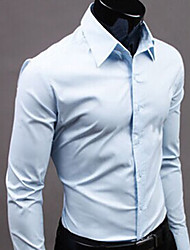 Nono Gentleman Long Sleeve Pure Color Shirt