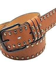 Men's Belts Metal Rivets PU Leather Belt