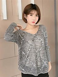 Women's LvKong Sweater Sets V-neck Female  Long-Sleeved Air Conditioning Unlined Upper Garment