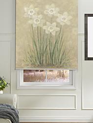 Minimalist Style Hexapetalous Flower Roller Shade