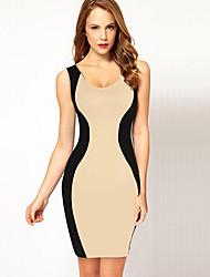 rückenfrei ärmellose Hülle, figurbetontes Kleid Obest Frauen