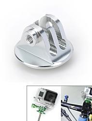 aleación de aluminio auricular moto vina® cnc adaptador de montaje w / tornillo para GoPro héroe 3 + / 3/2/1 / sj4000