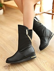 Women's Shoes Round Toe Low Heel Mid Calf Boots More Colors available