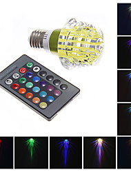 MLSLED 1 High Power LED 130-160 LM RGB Remote-Controlled LED Globe Bulbs AC 220-240 V