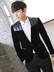 Men's Long Sleeve Blazer , Others Casual/Work