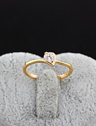 Women's Fashion Jewelry Exaggerated Wedding Rings 18K Gold Plated Inlay Zircon