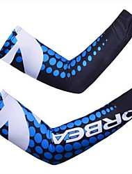 ORBEA High Elastic Smooth Summer Sun Protection Cyling Oversleeves - Blue + White