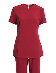 Women's Short Sleeve V-neck Tunics