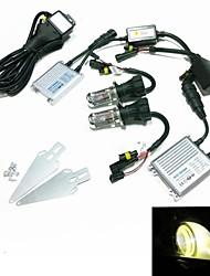12v 35w H4-3 3000k Xenon HID kit di conversione lampada impostato con staffa di montaggio (iper reattanza sottile argento)