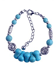 Lureme Turkey Blue Tophus Cute Little Bone Bracelet