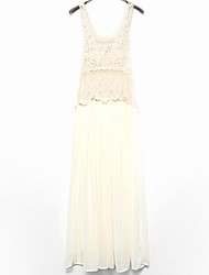 bali Mode Einfarbig Schaukel Stickerei Spitze Stickerei Kleid