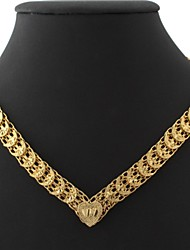 U7 Vintage 18K Chunky Yellow Gold Plated Choker Necklace Chain 18Inches 46CM