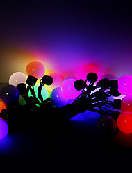 5M 20 LEDs Christmas Halloween decorative lights festive strip lights-RGB oversized ball lights (220V)