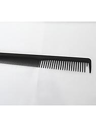 cabeleireiro pente de plástico preto.