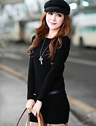 Women's Knitted Jumper Sweater Tops Pullover Dress