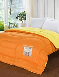 Shuian® Comforter Winter Quilt Keep Warm Thickening Cotton Quilts with Orange Color