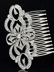 estilo imperial Europa clara de flores de diamantes de imitación peine del pelo para el baile de la boda