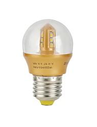 E26/E27 Lâmpada Redonda LED 12 SMD 2835 240 lm Branco Quente Decorativa AC 220-240 V