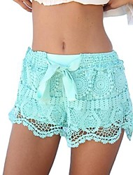Women's Lace Bow Shorts