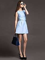 Women's Formal Dress,Solid Above Knee Sleeveless Blue / Pink Others Summer