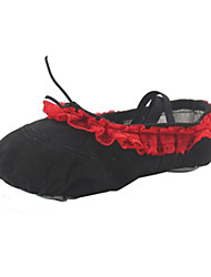 Girl's Red Canvas Ballet Practise Shoes (More Colour)