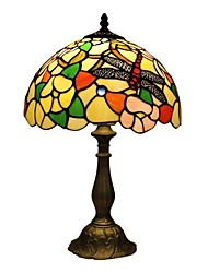 Tiffany Table Lamp With Pink Dragonfly