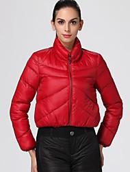 Oxygene Monde® Women's Quilted Long Sleeve Short-Style Padded Jacket