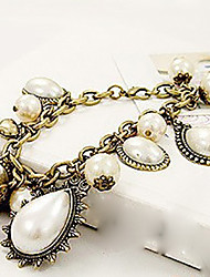 ч&Элегантные старинные жемчужные каплевидное браслеты D женские
