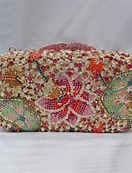 Women's  Frog Design Crystal Beaded Minaudiere Box