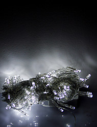 10M 100 LEDs Christmas Halloween decorative lights festive strip lights-Ordinary white light string (220V)