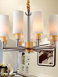pingente de carvalho lâmpada, oito luzes, carvalho e vidro, 220 ~ 240V (hy8038)
