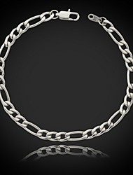 U7 Men's Chunky Figaro Chain Bracelet 316L Titanium Steel 5MM,8Inches (21CM)