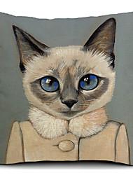 Coton/Lin Housse de coussin , Imprimé animal Moderne/Contemporain