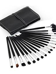 24pcs High Quality Professional Black Makeup Brush Set With Free Bag