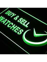 relógios j432 comprar&sell tempo loja de sinal de luz neon