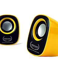 BOAI 020 Mini Portable Usb 2.0 Speaker for Computer (Yellow)
