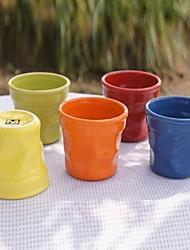 grande irrégularité tasse en céramique de couleur aléatoire, 8x8x8.5cm