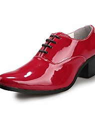 Men's Shoes Office & Career/Casual/Party & Evening Leather/Patent Leather Oxfords Black/Red/Ivory