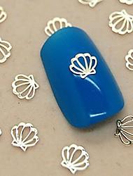 200pcs золотой металлический корпус ломтик ногтей украшения