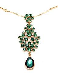 Vintage Hair Accessories Green Gem Emerald Hair Restoring Headbands
